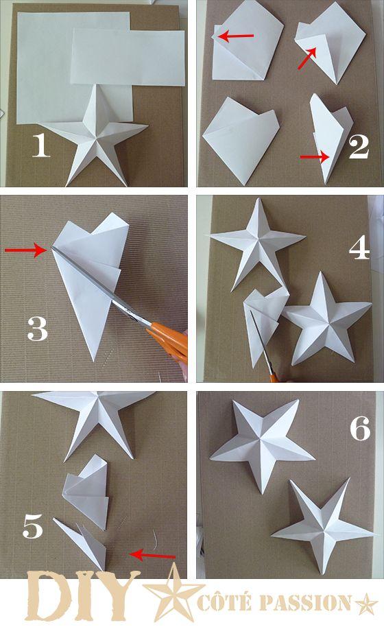 Елочные игрушки из бумаги своими руками: звездочка