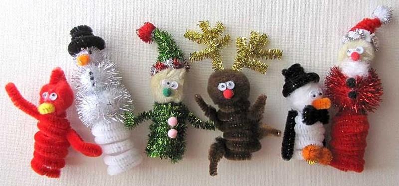 Новогодняя поделка в детский сад на выставку: из мишуры