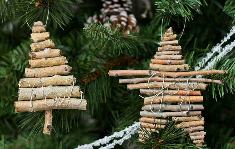 Новогодняя игрушка на елку в детский сад: из веток