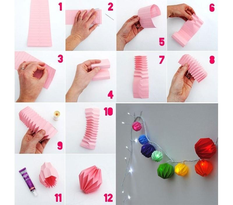 Елочные игрушки из бумаги своими руками: гирлянда