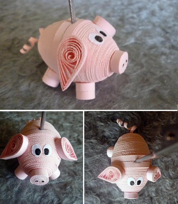 Елочные игрушки из бумаги своими руками: свинка на елку