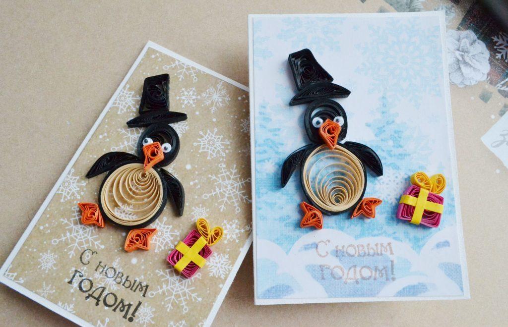Новогодняя поделка в детский сад на выставку: пингвин