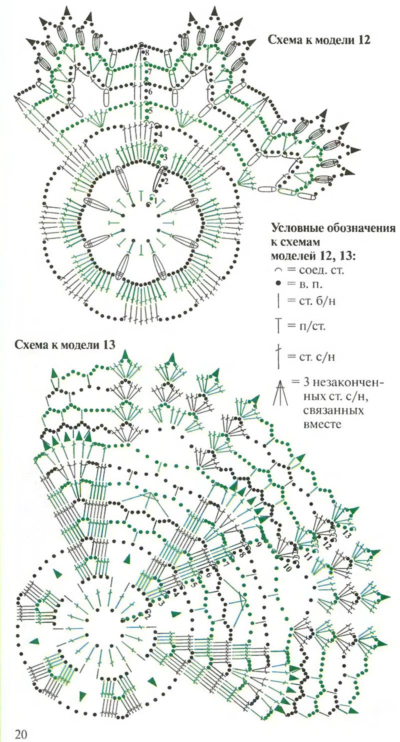 Снежинка крючком: схемы и описание (5)