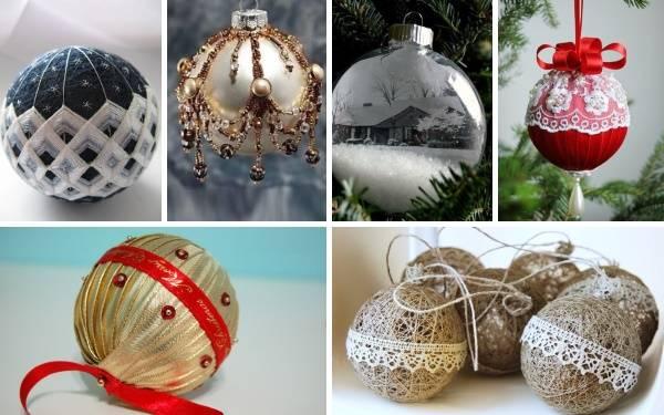 Поделки на Рождество Христово: шары