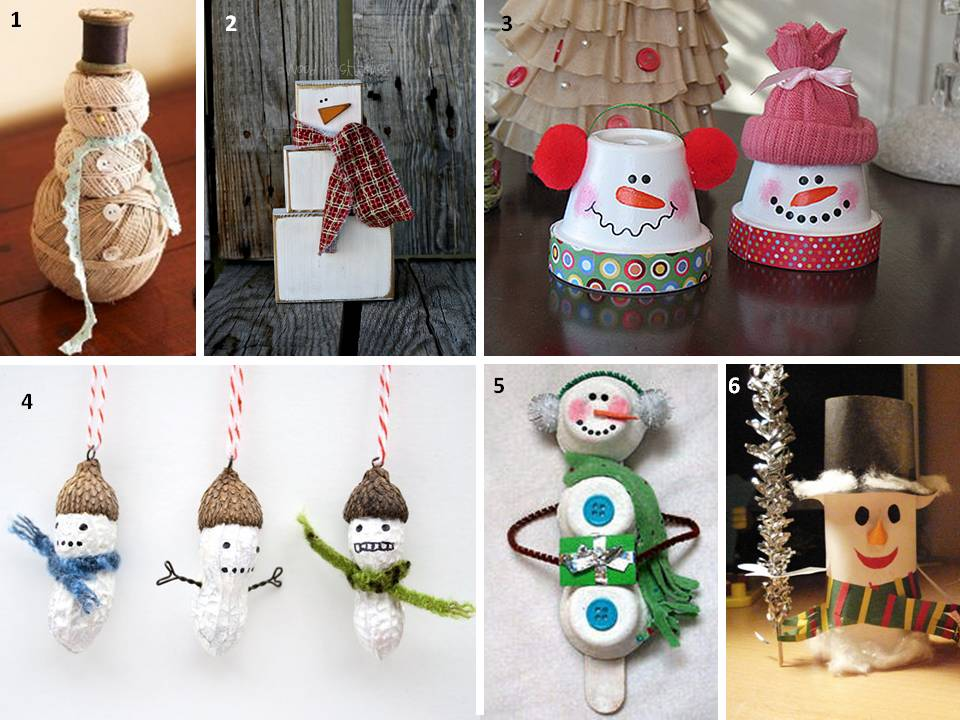 Новогодняя поделка в детский сад на выставку: снеговики