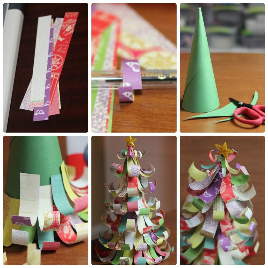 Новогодние поделки в детский сад: елка из бумаги