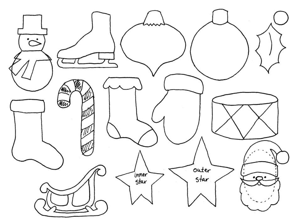 Новогодняя поделка в детский сад на выставку: шаблоны