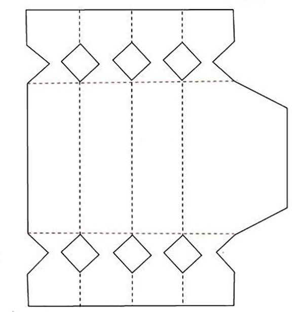 Как упаковать подарок в подарочную бумагу: шаблон