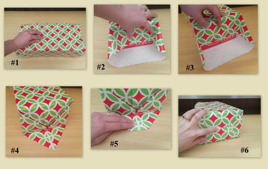 Как упаковать подарок в подарочную бумагу: маленький