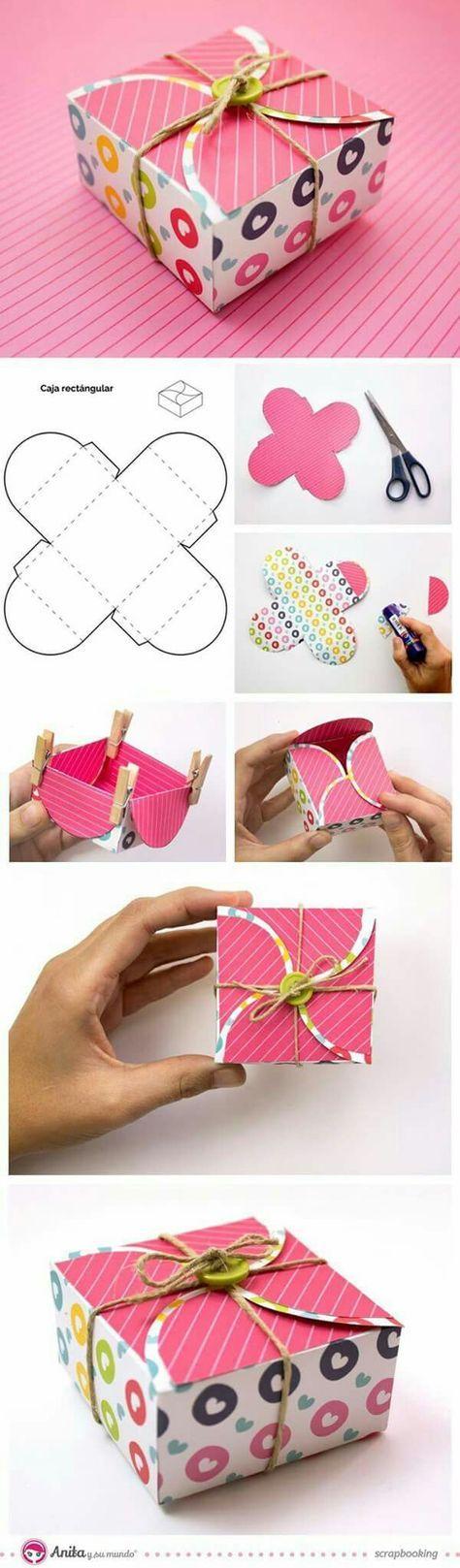 Как упаковать подарок в подарочную бумагу: в самодельной коробке