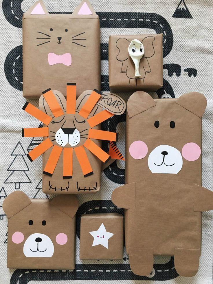 Как упаковать подарок в подарочную бумагу: животные