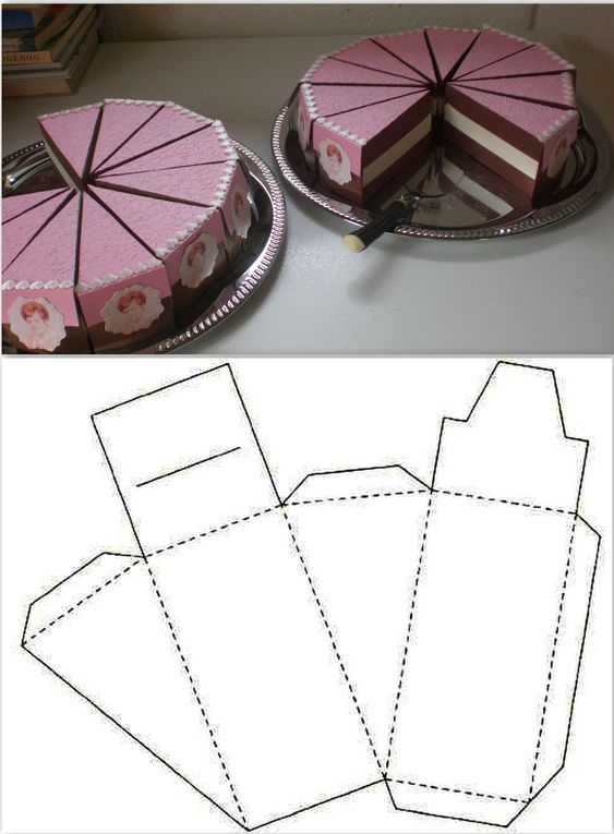 Как упаковать подарок в подарочную бумагу: тортик