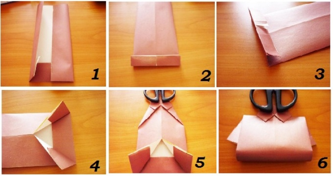 shema-upakovki-rubashki1 Как обклеить коробку бумагой: мастер класс и схема, пошаговые фото, видео, МК