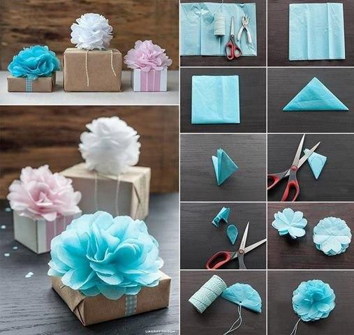 Как упаковать подарок в подарочную бумагу: декор из банта