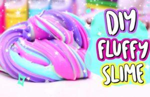 Разноцветный Fluffy слайм