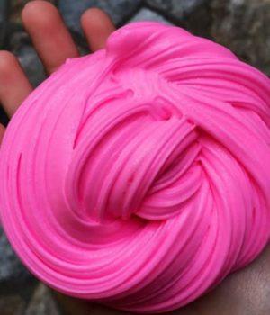Розовый слайм из клея