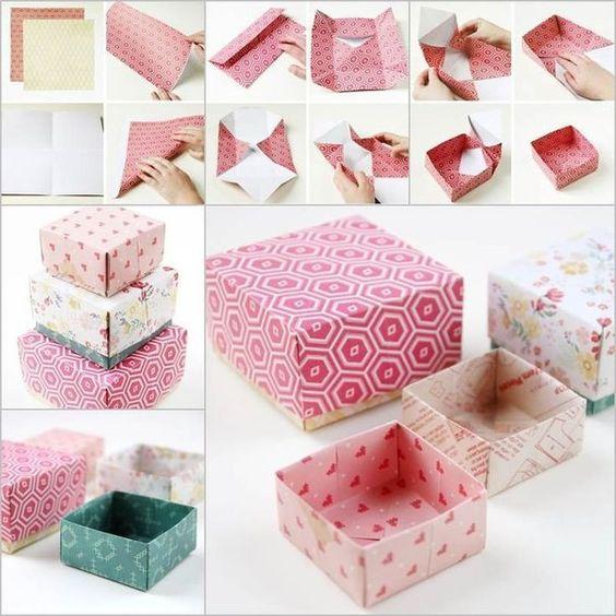 Как сделать коробку из бумаги: мк 1