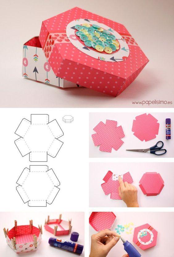 Как сделать коробку из бумаги: мк 7