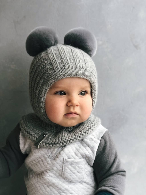 Детские вязаные шапки 2020 фото 1