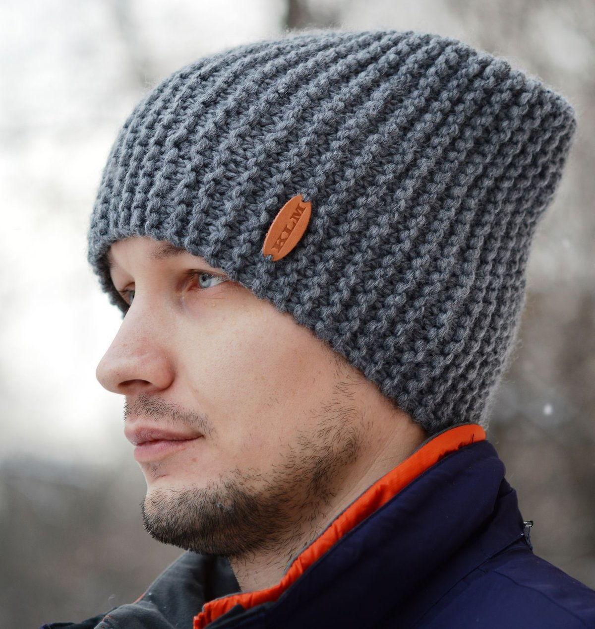 Мужские вязаные шапки 2020 фото 1