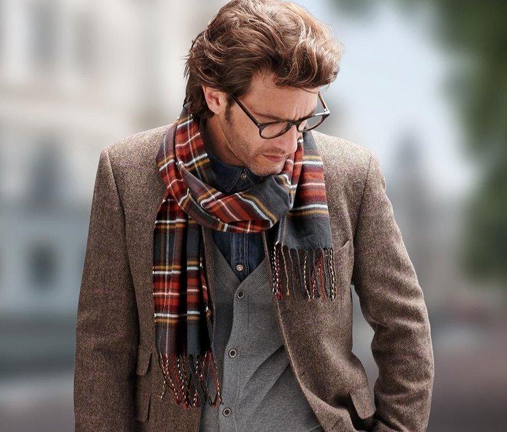 Мужской шарф фото 1