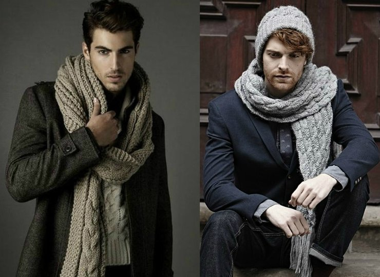 Мужской шарф фото 6
