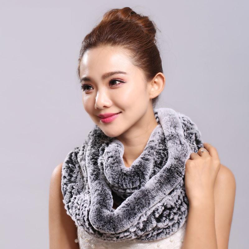 Меховой шарф фото 2